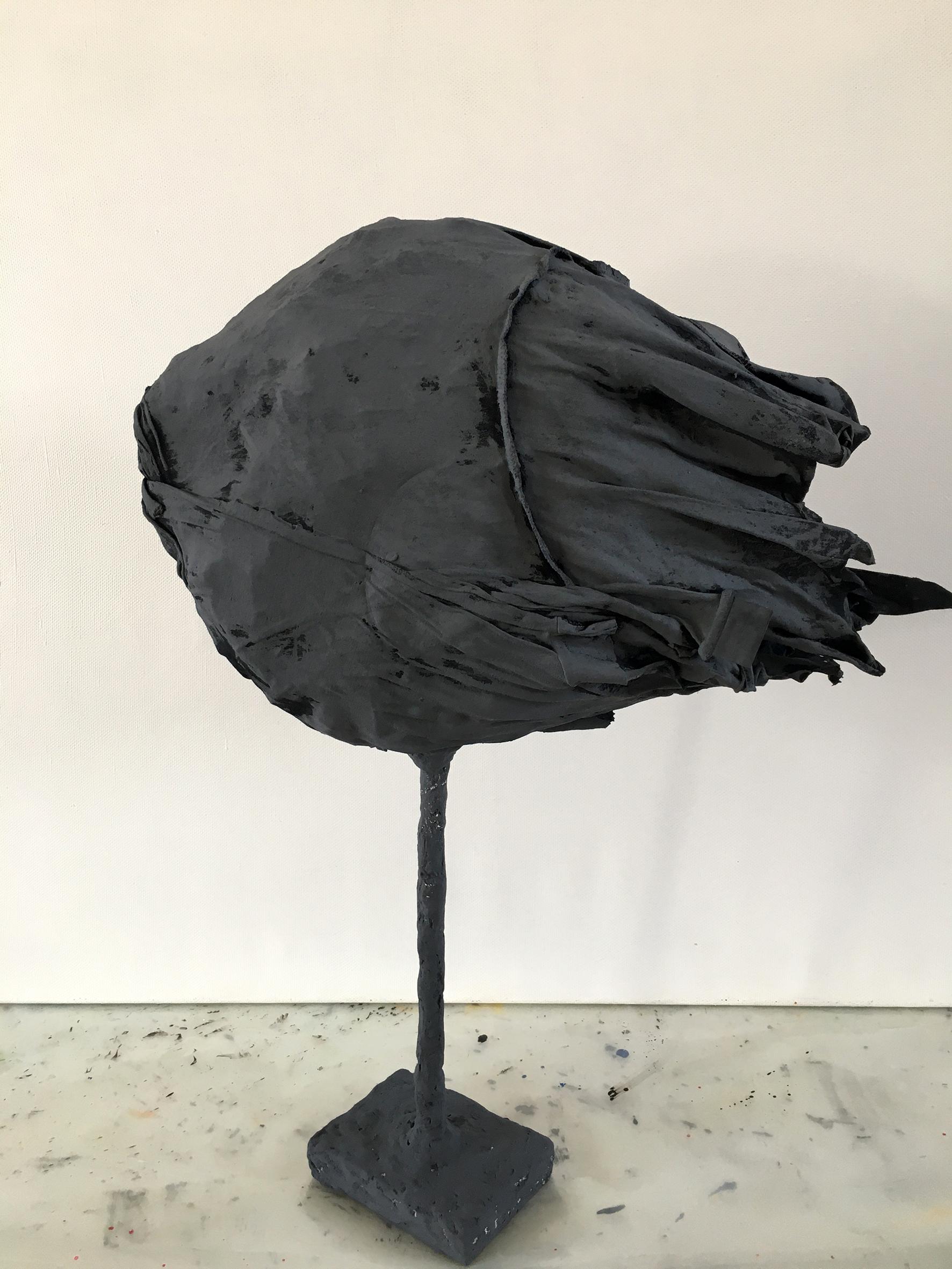 """""""Черное крыло"""", 50Х30 см, ткань, проволока, акрил"""