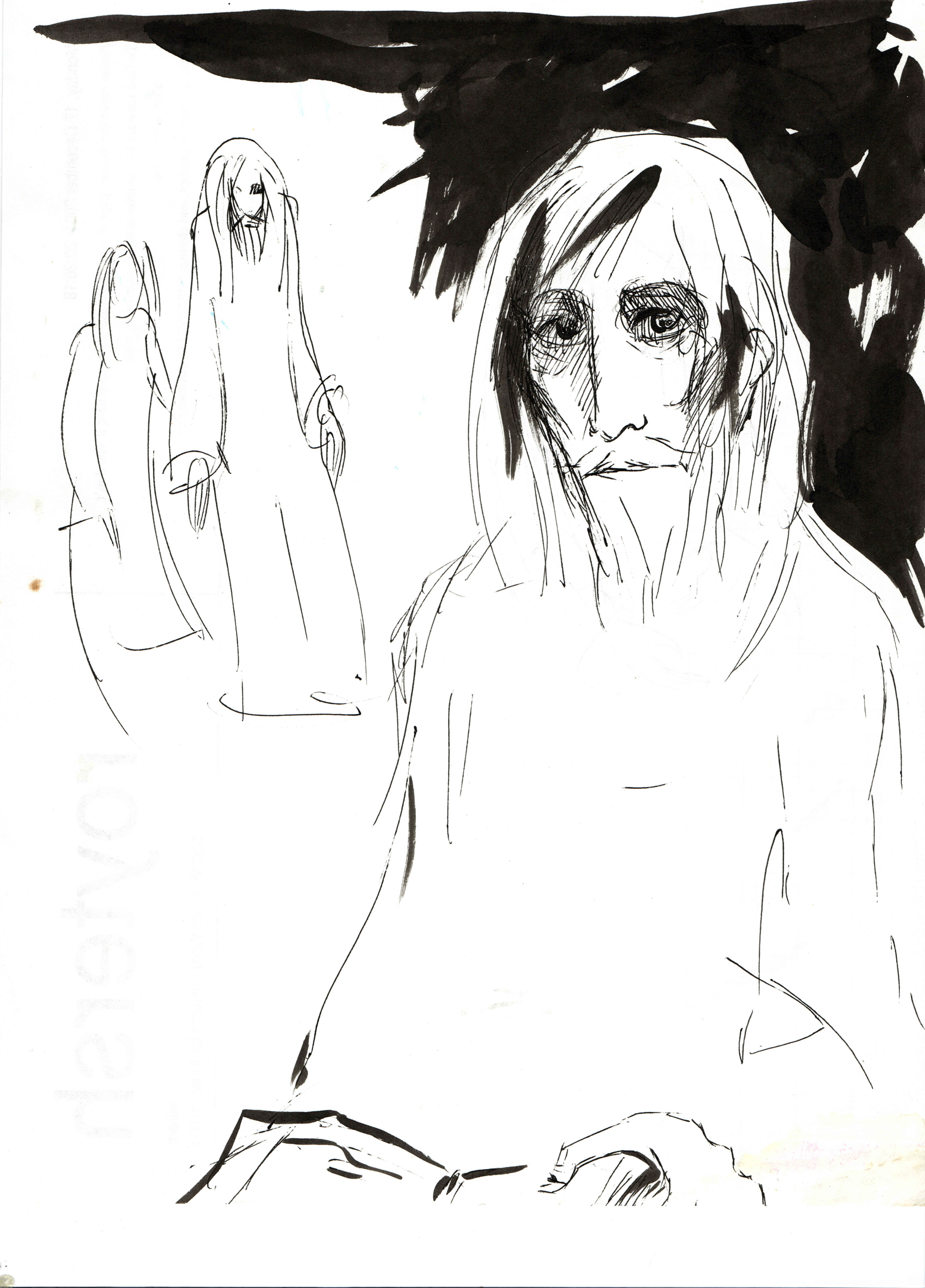 """""""Действующие лица. Дедал"""" (1999). Бум.тушь, 21X29 см"""