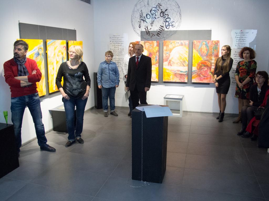 """Проект """"Круговорот""""  выставка """"Человек вечный"""" в галерее ИН,  Новороссийск, 2015"""